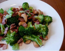 Broccoli, Bacon and Cashew Salad