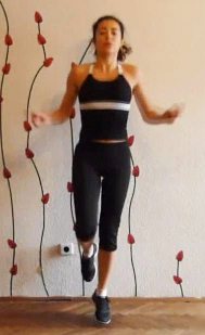 Single leg jumping rope